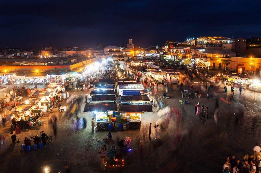 כיכר ג'אמע אלפנא, מרקש, מרוקו