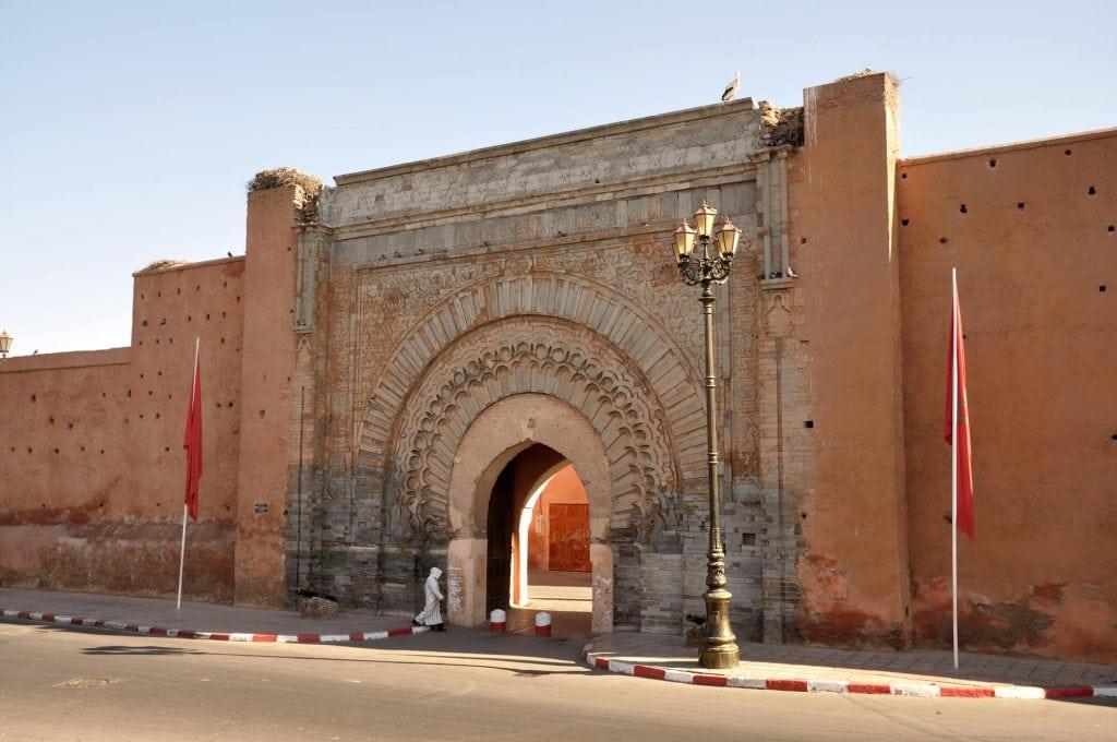 שער הכניסה לעיר העתיקה במרקש, מרוקו