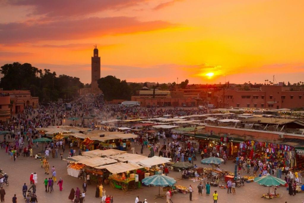 אטרקציות במרוקו - כיכר ג'אמע אלפנא, מרקש