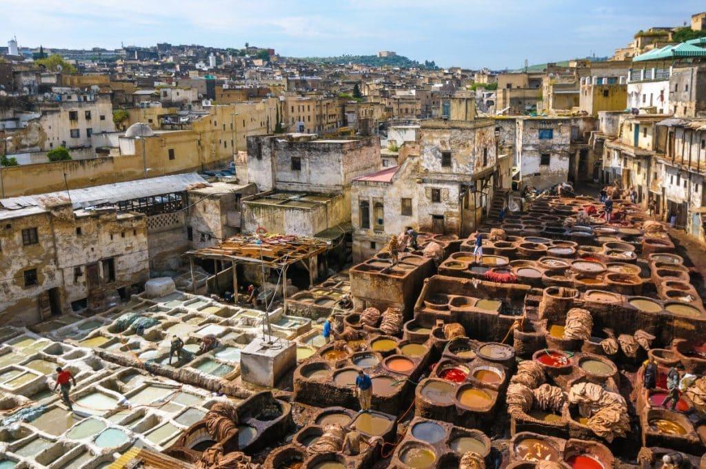 אטרקציות במרוקו - המפעלים לעיבוד עור, פס