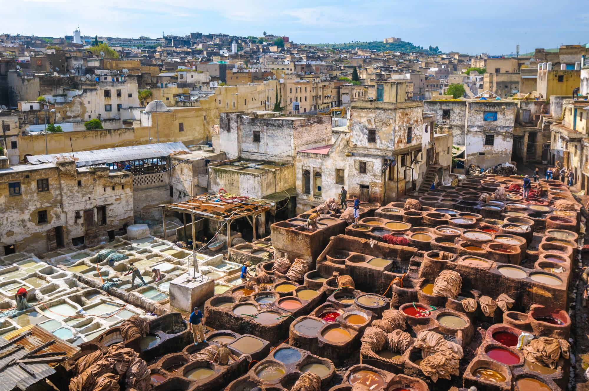 מתחם עיבוד העורות - העיר פס שבמרוקו