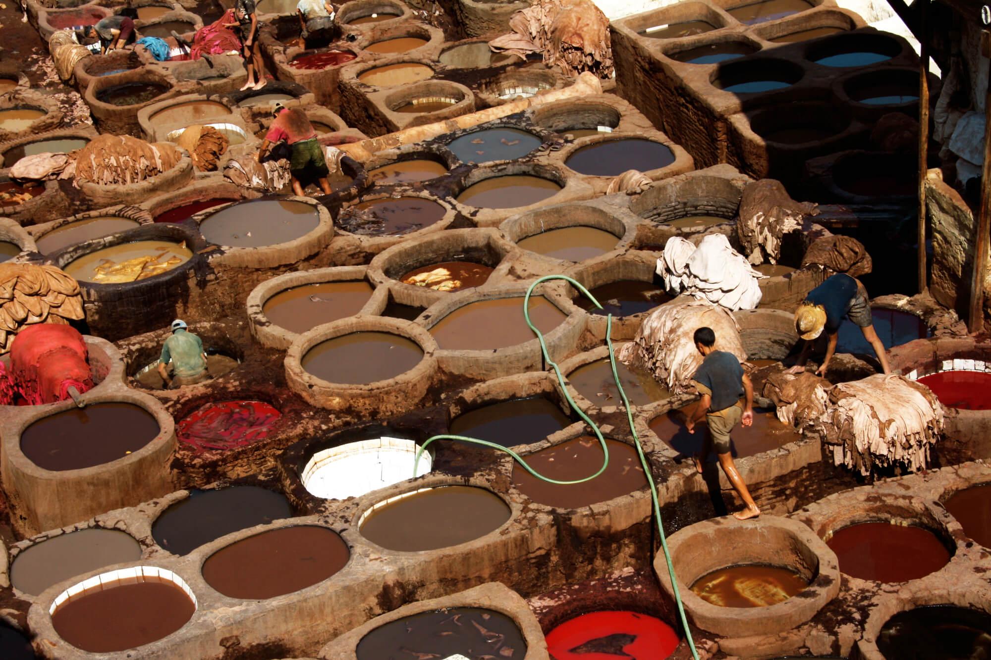 מתחם עיבוד העורות בעיר פס במרוקו
