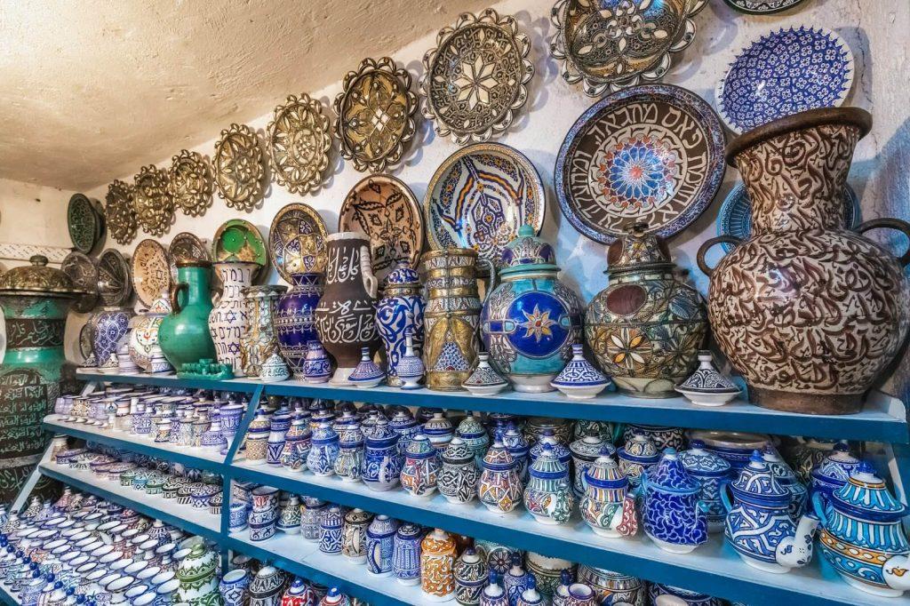 קדרות בעבודת יד, קניות בפס, מרוקו
