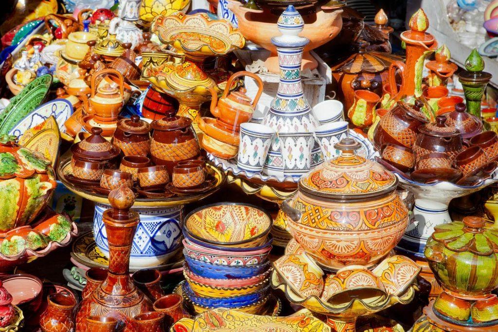 קניות במרוקו - כלי חרס מסורתיים