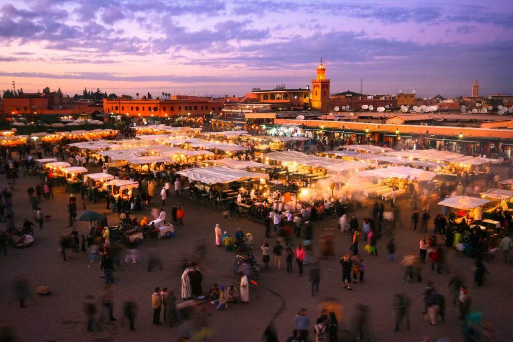 כיכר ג'אמע אלפנא, קניות במרקש, מרוקו